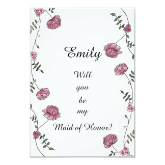 Double sided Will you be my Maid of Honour card