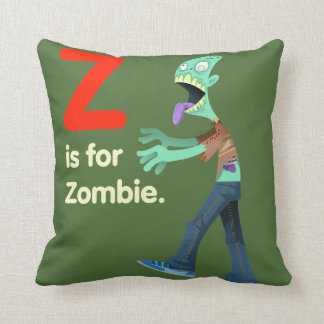 Double sided Zombie/Vampire Throw pillow! Throw Pillow