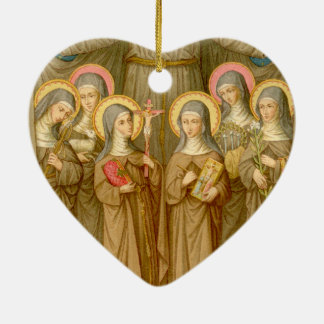 Double SIx Poor Clare Saints (SAU 027) Ceramic Ornament