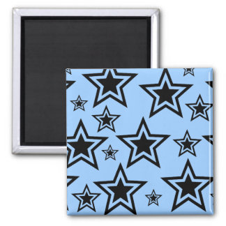 Double Stars Square Magnet