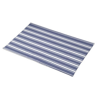 Double Striped Navy Blue Placemat