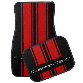 "Double Stripes - Use ""Customize"" To Change Color Car Mat"