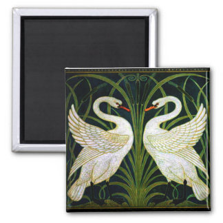 Double Swan Square Magnet