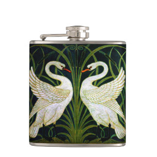 Double Swan Vinyl Wrapped Flask
