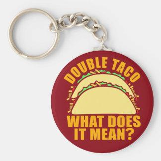 Double Taco Basic Round Button Key Ring