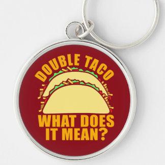 Double Taco Key Ring
