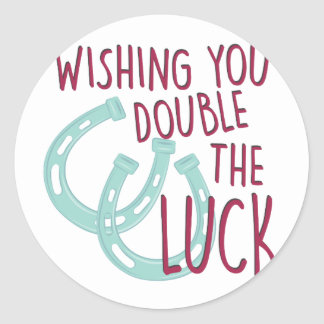 Double The Luck Round Sticker