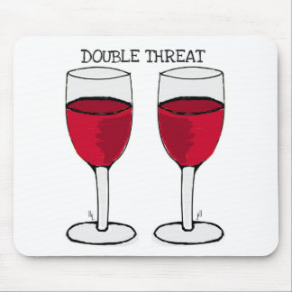 DOUBLE THREAT RED WINE PAIR PRINT MOUSE PAD