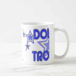 Double Trouble Blue Yellow Stars Part 1 Coffee Mug
