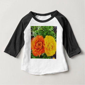 Double Trouble Flower Baby T-Shirt