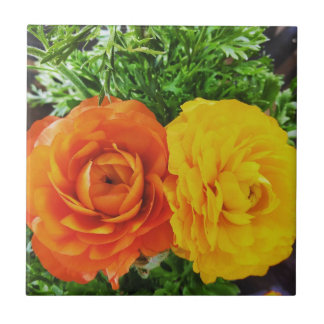 Double Trouble Flower Ceramic Tile