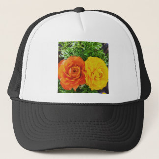 Double Trouble Flower Trucker Hat