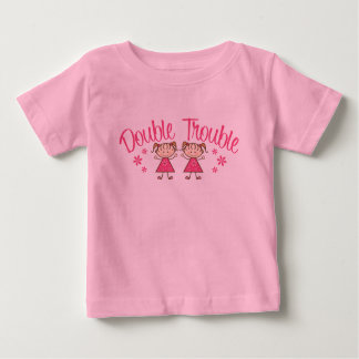 Double Trouble Pink Girl Baby T-Shirt