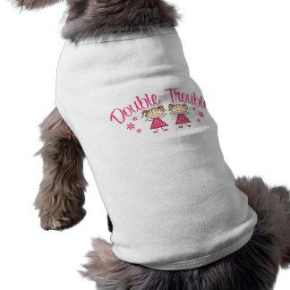 Double Trouble Pink Girl Doggie Tee