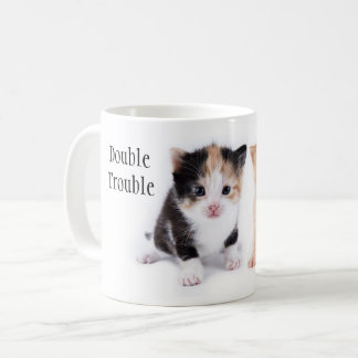 Double Trouble Two Kittens Mug