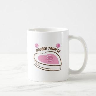 Double Truffle Basic White Mug