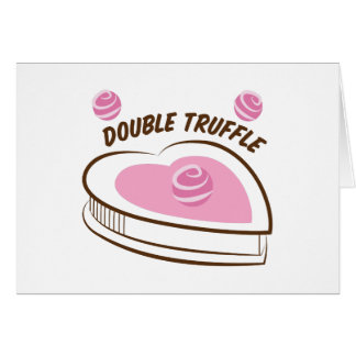 Double Truffle Greeting Card