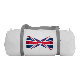 Double Union Jack, British flag in 3D Gym Duffel Bag