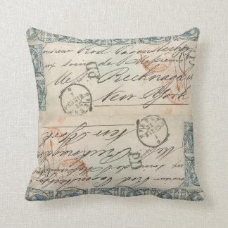 Double Vintage Mail pillow Cushion