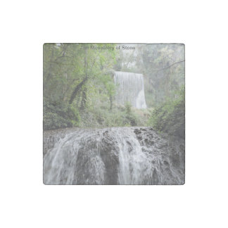 Double waterfall stone magnet