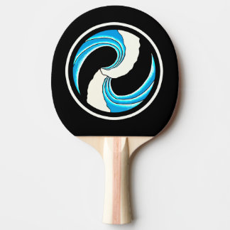 Double Wave Tattoo Ping Pong Paddle