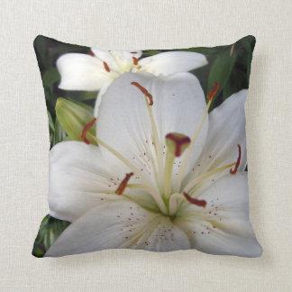Double White Lilies Cushion