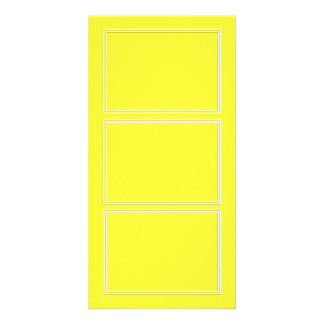 Double White Pin line Drop Shadow on Lemon Yellow Picture Card