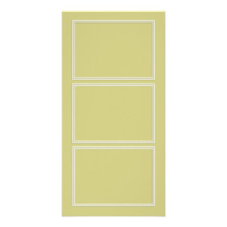 Double White Shadowed Border on Fern Green Picture Card
