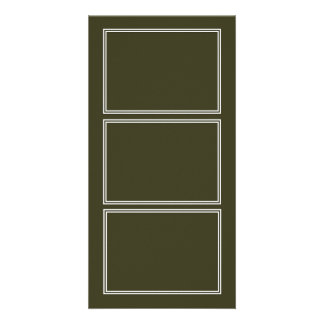 Double White Shadowed Border on Garden Boot Green Personalised Photo Card