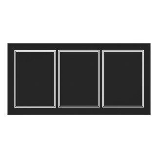 Double White Shadowed Border on Garden Sludge Grey Customized Photo Card