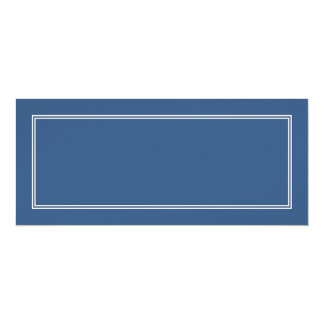Double White Shadowed Border on Iris Blue Card