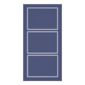 Double White Shadowed Border on Posy Violet Custom Photo Card