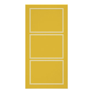 Double White Shadowed Border on Primrose Yellow Photo Card Template