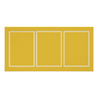 Double White Shadowed Border on Primrose Yellow Photo Cards