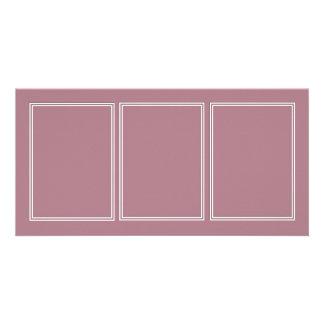 Double White Shadowed Border on Princess Plum Customised Photo Card