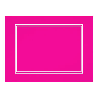 Double White Shadowed Border on Purple Pink 6.5x8.75 Paper Invitation Card