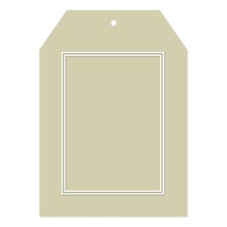 Double White Shadowed Border on Spanish Moss Green 13 Cm X 18 Cm Invitation Card