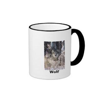 Double Wolf Ringer Mug