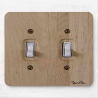 Double Wooden Switch Plate Mouse Pad