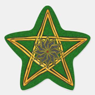 Double Woven Wicker Pentagram #1 - Sticker