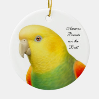 Double Yellow Headed Amazon Parrot Ornament