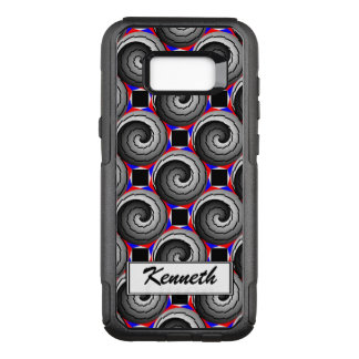 Double Yin Yang Spiral by Kenneth Yoncich OtterBox Commuter Samsung Galaxy S8+ Case