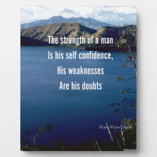 Doubt and self confidence plaques