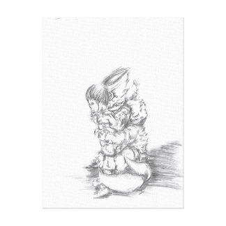 Doubt Drawing Canvas Print