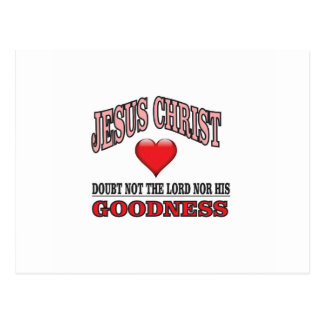doubt not the lord or his goodness postcard