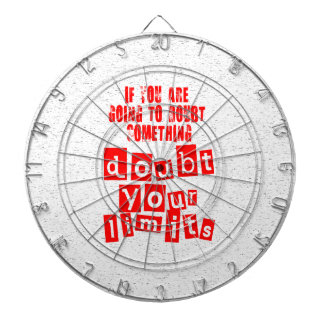 Doubt Your Limits Dartboard