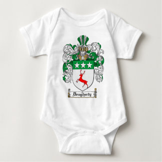 DOUGHERTY FAMILY CREST -  DOUGHERTY COAT OF ARMS BABY BODYSUIT