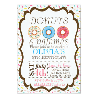 Doughnut and Pyjamas Invitation