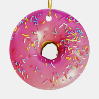 Doughnut Ceramic Ornament