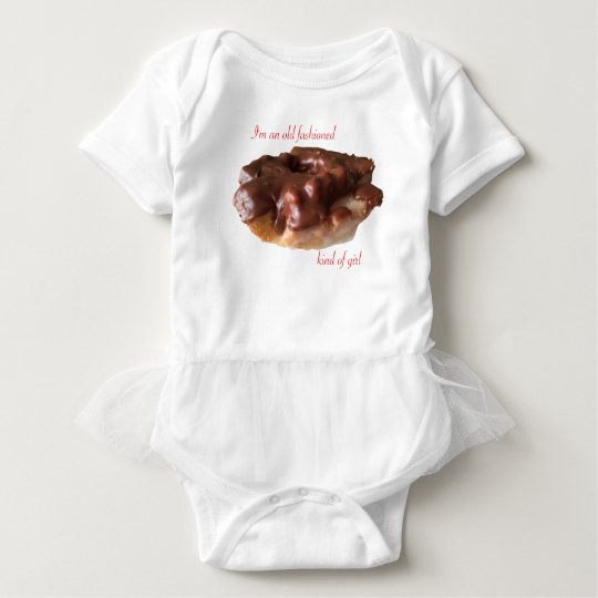 Doughnut Chocolate Old Fashion Girl Baby Bodysuit